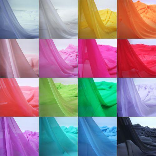 قماش الشيفون Chiffon Fabric Georgette Fabric Wedding Fabric