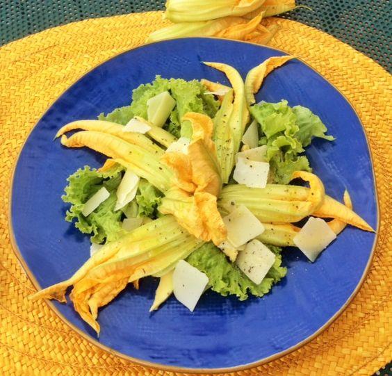 Fiori di zucchina in insalata!