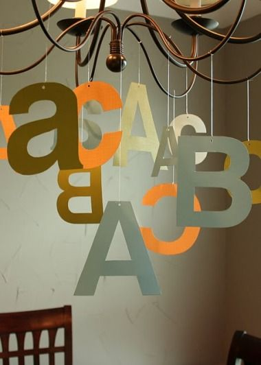 Alphabet party decor