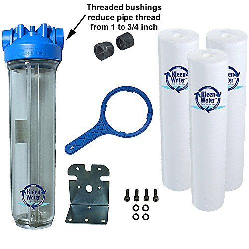 Kleenwater Premier 4520 Water Filter System Transparent Clear Housing 3 4 Inch Inlet Outlet 40 G Whole House Water Filter Water Filter Water Filtration