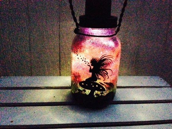 Resultado de imagen de diy halloween mason jar luminaries