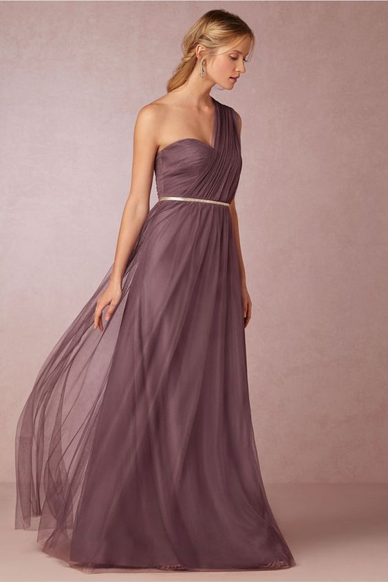 Annabelle Convertible Soft Plum Dress - 20 Most Elegantly Designed Plum Bridesmaid Dresses - EverAfterGuide
