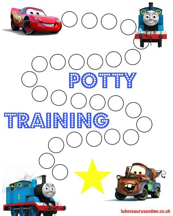 Free printable Thomas and Cars Potty Training Chart http://lukeosaurusandme.co.uk :gloryiscalling