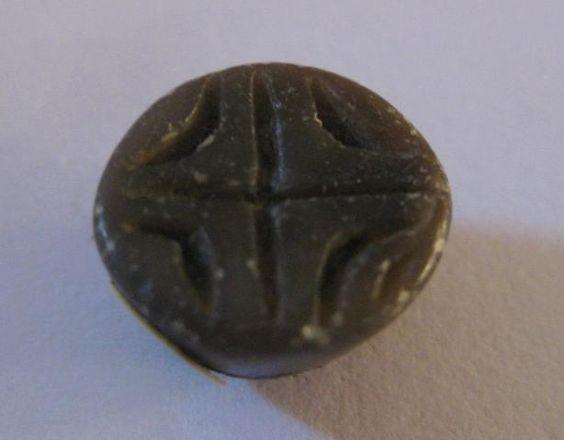 1 bouton sceaux en pierre dure Chine, période Han (206 Av JC - 220
