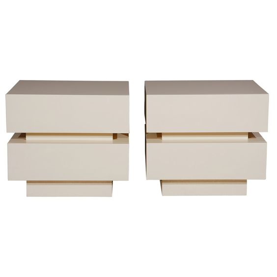 Pair Of Stacked Box Night Stands By Lawson-Fenning | 1stdibs.com