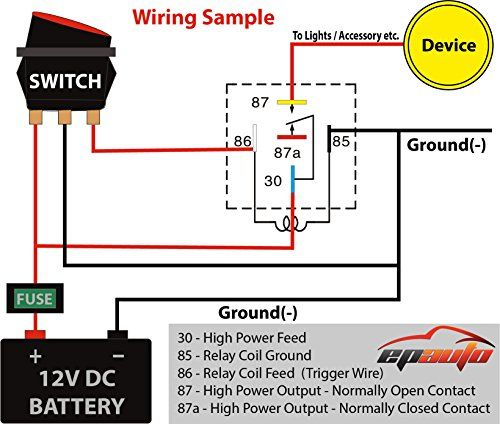 12v Relay Wiring Electrical Diagram Circuit Diagram Automotive