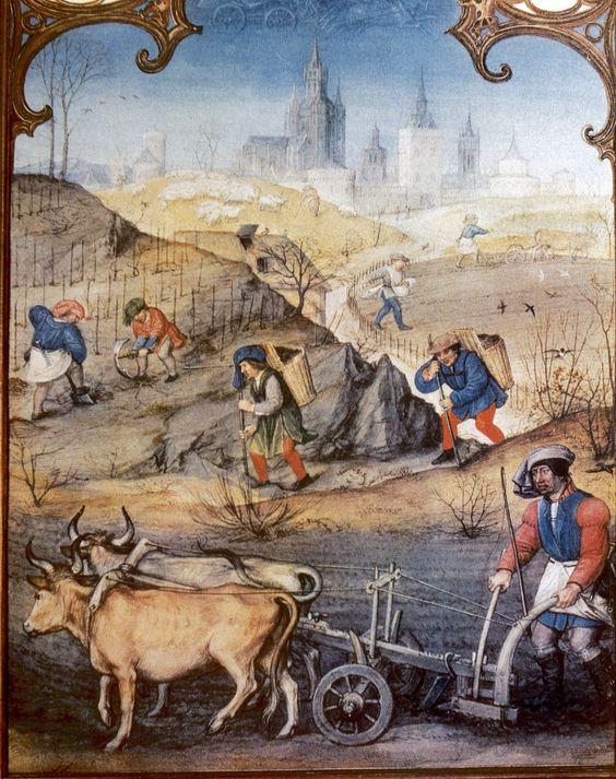 La jornada diaria se regía en el campo por el nacimiento y la puesta del sol, y en las ciudades por el continuo tañido de decenas de campanas.