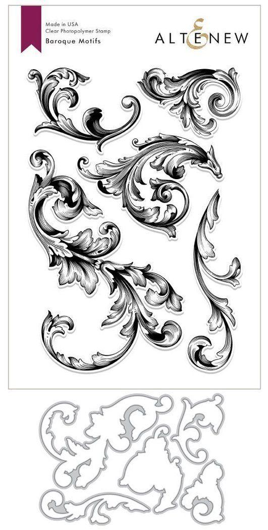 Baroque Motifs Stamp Set Filigree Tattoo Watch Tattoo Design Baroque Tattoo,Worst Pokemon Designs Gen 1