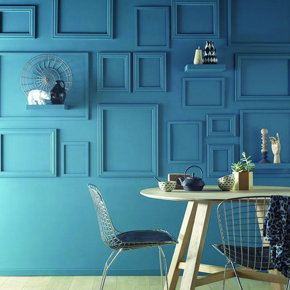 Peinture murs et boiseries vert empire mat velours 3l for Castorama peinture mur