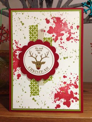 Cute Rudolph. Christmas card using Gorgeous Grunge and Very Merry Tags