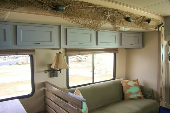 Is there anything more relaxing than being on a private beach? Why not have that feeling inside your RV? Check out this incredible beach RV interior....