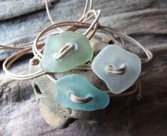 Scottish Sea Glass Surfers Stacker Bracelets by byNaturesDesign, $10.00
