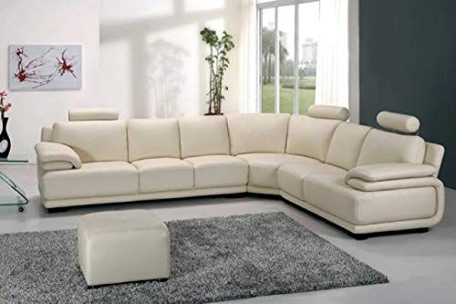 Buy Vig Furniture A31 Modern White Leather Sectional Sofa Online In 2020 Modern Leather Sectional Sofas Sectional Sofa With Recliner Sectional Sofa