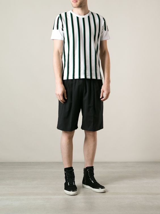 Moncler Gamme Bleu Striped T-shirt - Parisi - Farfetch.com