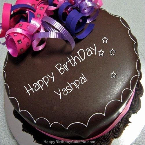 Yashpal Happy Birthday Chocolate Cake With Name Happy Birthday