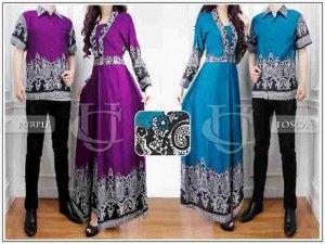 Trend Model Baju Muslim Couple Lebaran 2015 Km253 Baju