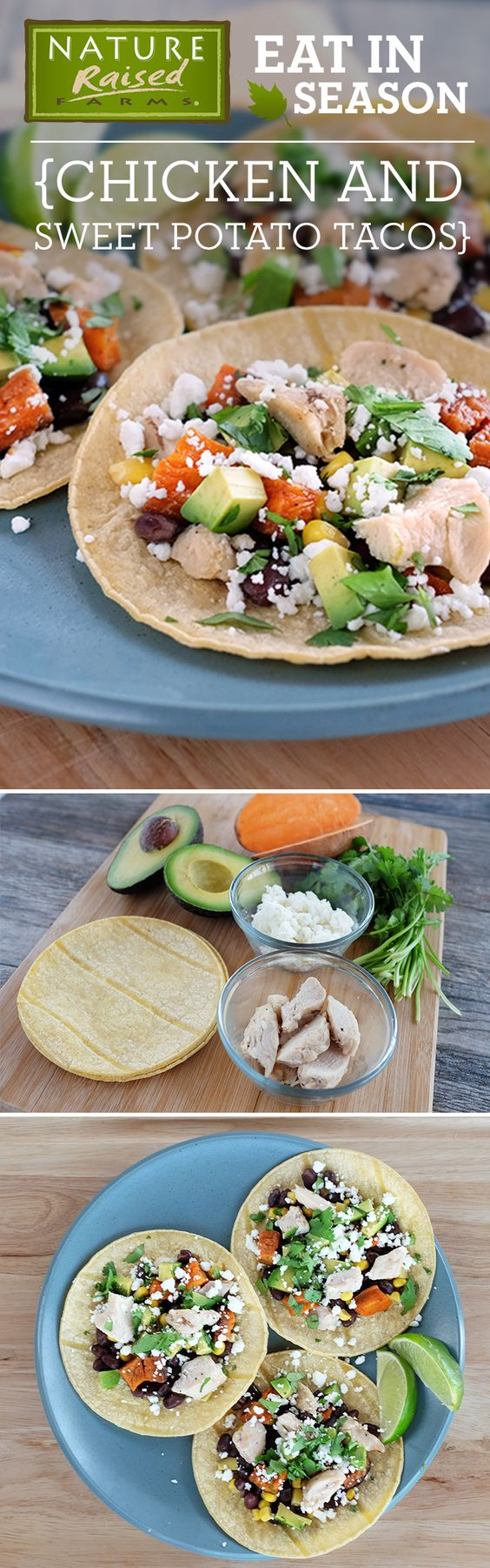 Sweet potato is the perfect addition to these chicken tacos! | NatureRaised Farms®