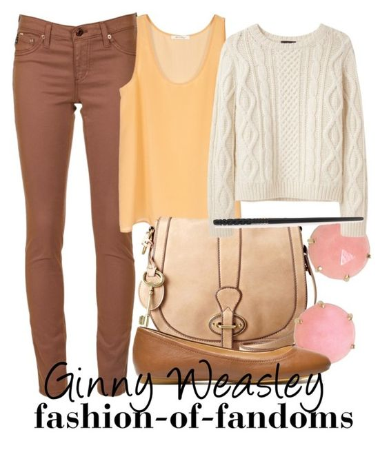 """Ginny Weasley"" by fofandoms ❤ liked on Polyvore featuring AG Adriano Goldschmied, FOSSIL, Jamie Joseph, A.P.C., Zara, ginny weasley, weasley, harry potter fashion and harry potter"