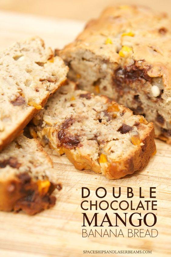 Double chocolate mango banana bread | Recipe | Banana Bread, Mango and ...