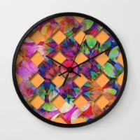 Tropical Weave Wall Clock