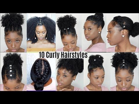 10 Quick Easy Hairstyles For Natural Curly Hair Instagram Inspired Hairstyles Youtube Natural Hair Styles Easy Easy Hairstyles Easy Hairstyles Quick