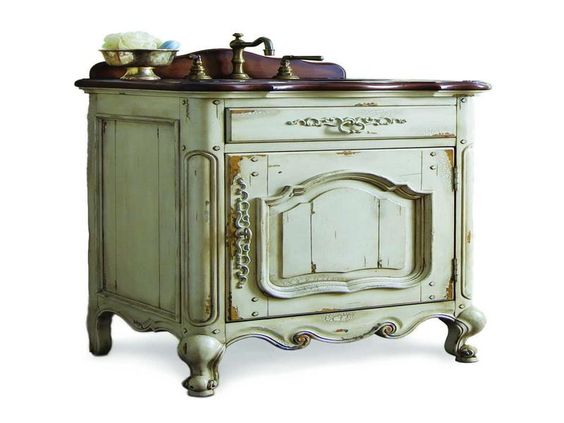 Country bathrooms home and country style on pinterest French provincial bathroom vanities