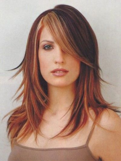 Fine Highlights Auburn Hair And Blonde Bangs On Pinterest Hairstyle Inspiration Daily Dogsangcom