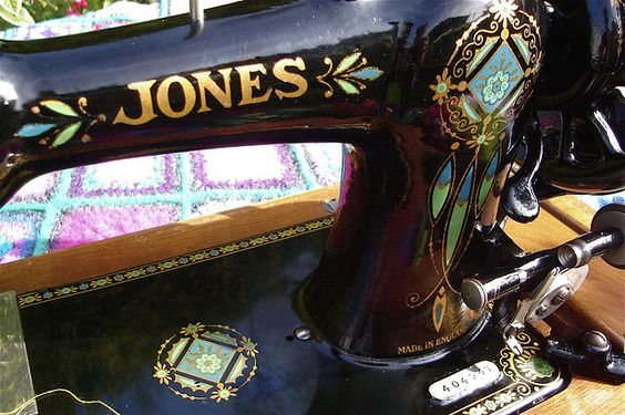 Malphi vintage Jones sewing machine by SUSANNAH DASHWOOD, via Flickr