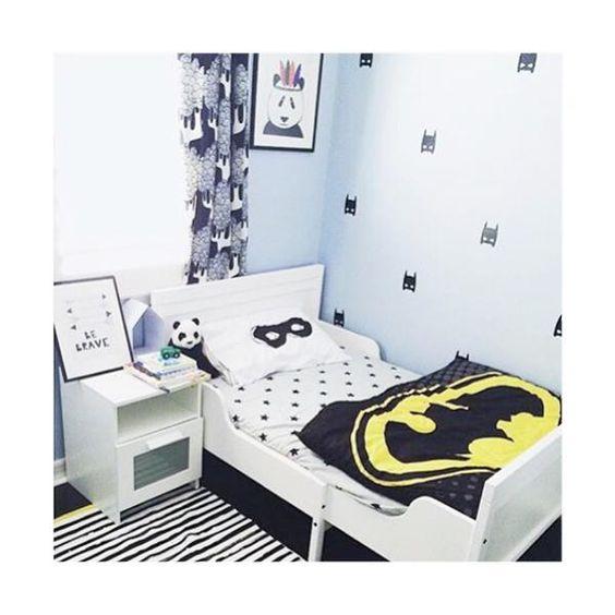 Montessori Toddler Room Kids Monochrome Bedroom Toddler Floor Bed Black and white toddler room