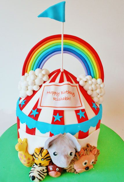 First Birthday Cakes New Jersey - Circus Tent Custom Cakes @ Sweet Grace, Cake DesignsSweet Grace, Cake Designs