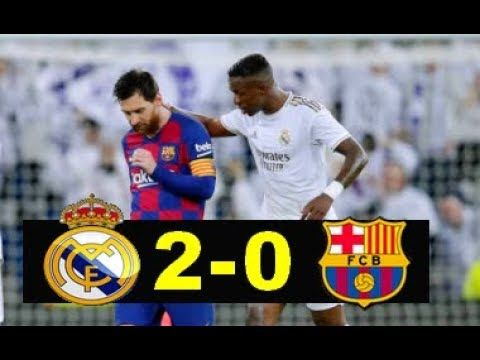 Real Madrid Vs Barcelona 2 0 Ronaldo Watching Vinicius Vs Messi Highlights Goals Resumen Goles Youtube In 2020 Real Madrid Ronaldo Messi