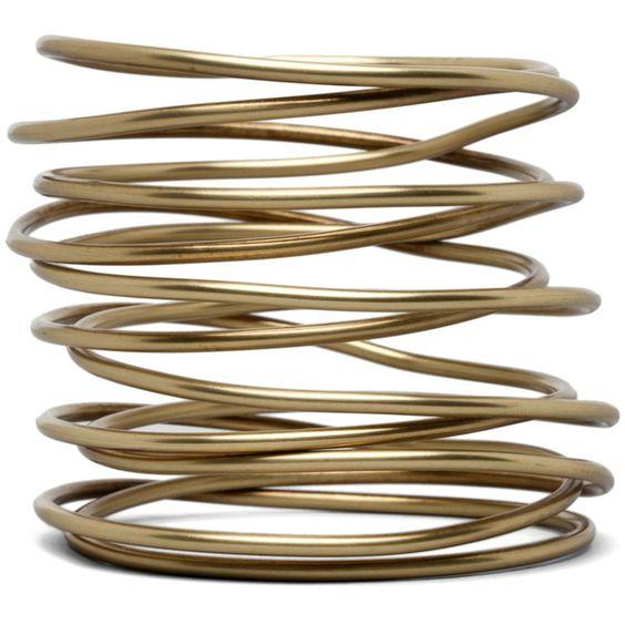 Kelly Wearstler Twisted Bracelet in Brass ❤ liked on Polyvore