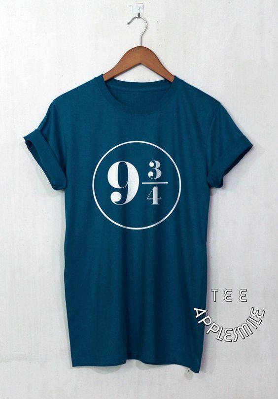 Chemise de plateforme 9 3/4 Harry Potter vêtements unisex t-shirt taille S à 2XL.