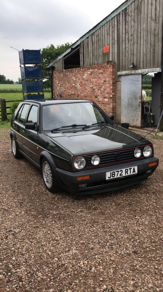 Vw Golf Gti Mk2 8v Oak Green Gti Car Golf Classic Cars