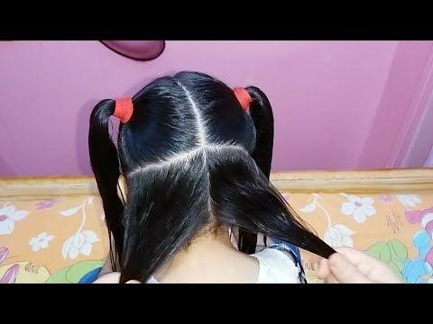 اجمل وأسهل تسريحه للشعر المجعد والهايش والخشن بجد روعه للأطفال Youtube Hair Tutorial Hair Tutorial