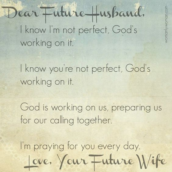 Dear Future Husband: