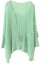 Green Vintage Loose Sweater