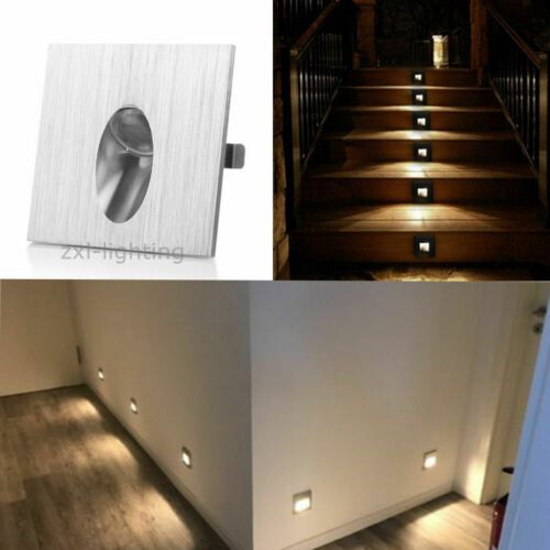 4x 1w Led Recessed Step Staircases Stairway Lighting Walkway Lights Foot Lamp Ebay Stairway Lighting Stairways Walkway Lights