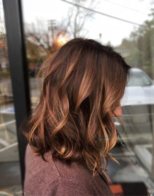 Copper Toned Highlights Peinados Cabello Pelo