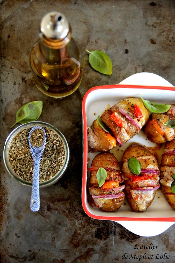 Pommes de terre rôties à la mozzarella, origan et paprika doux