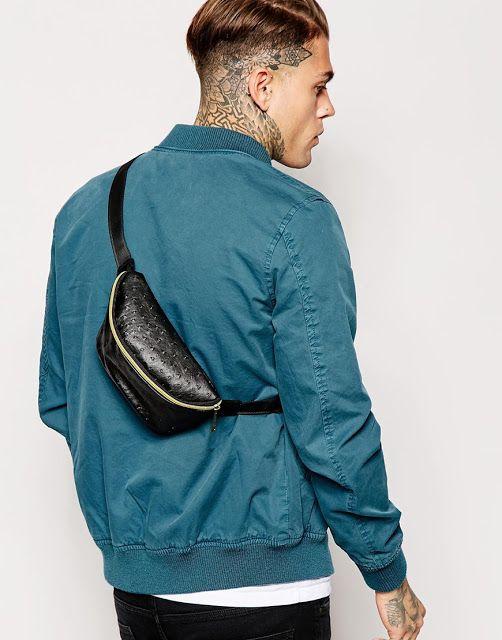 Pochete. Macho Moda - Blog de Moda Masculina: A POCHETE está de volta? Você Usaria a Pochete Masculina? Pochete masculina, Pochete, Streetwear, Moda Masculina, Roupa de Homem, Moda para Homens. Pochete de Couro, Jaqueta Bomber Azul,