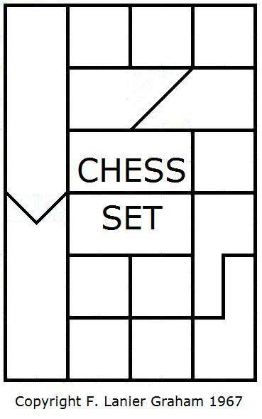 Interlocking chess pieces by F Lanier Graham, 1967 DIY and - chess score sheet