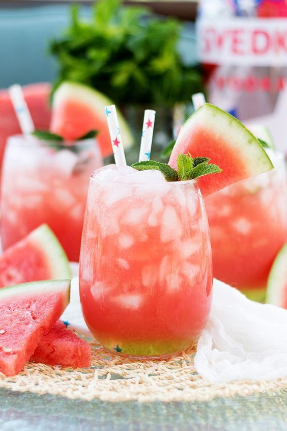 Watermelon cooler, Watermelon and Vodka on Pinterest