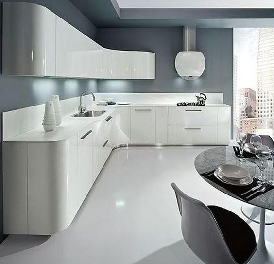 White Gloss Kitchen Grey Worktop: 1000+ Ideas About White Gloss Kitchen On Pinterest