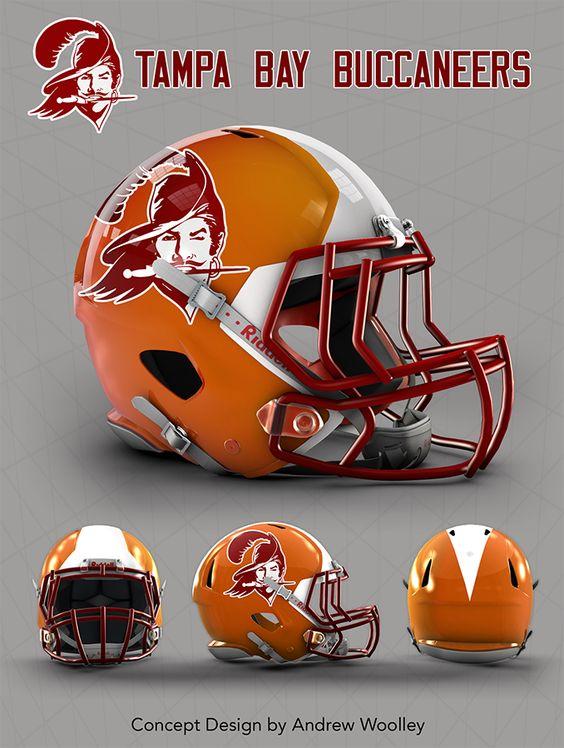 NFL: Tampa Bay Buccaneers concept Revo speed helmet ...