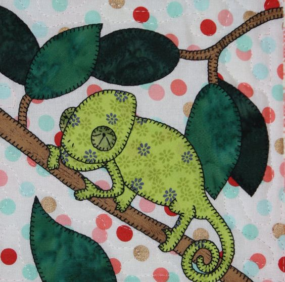 Chameleon PDF applique pattern baby or child's by MsPDesignsUSA