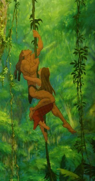 Tarzan and Jane in the jungle, let me hang on you Tarzan, hold me tigh