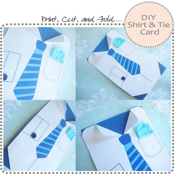 Shirt And Tie Card Father S Day Diy Fathers Day Shirts Happy Fathers Day Cards