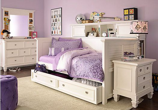 Shop for a belmar white 7 pc daybed bedroom at rooms to go for Room to go kid
