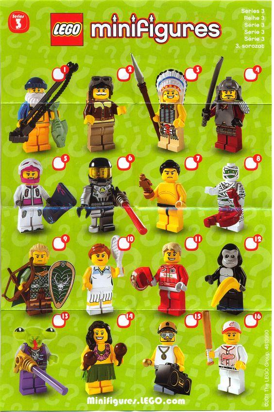 Lego Minifigures Series 3 My Legos Pinterest Lego